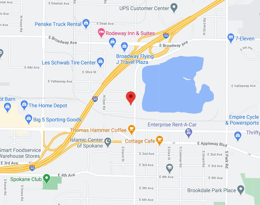 spokane map location